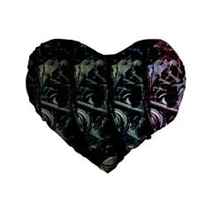 Wild Child Standard 16  Premium Heart Shape Cushions by Valentinaart