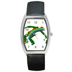 St  Patricks Barrel Style Metal Watch by Valentinaart