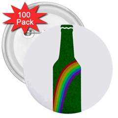 St  Patricks 3  Buttons (100 Pack)  by Valentinaart