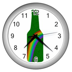 St  Patricks Wall Clocks (silver)  by Valentinaart