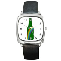St  Patricks Square Metal Watch by Valentinaart