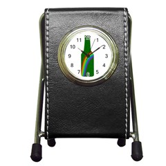 St  Patricks Pen Holder Desk Clocks by Valentinaart
