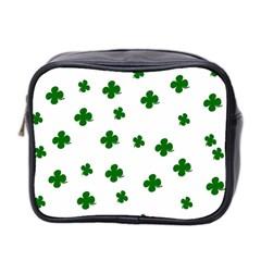 St  Patrick s Clover Pattern Mini Toiletries Bag 2 Side by Valentinaart