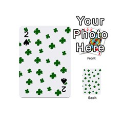 St  Patrick s Clover Pattern Playing Cards 54 (mini)  by Valentinaart