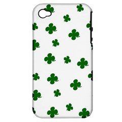 St  Patrick s Clover Pattern Apple Iphone 4/4s Hardshell Case (pc+silicone) by Valentinaart