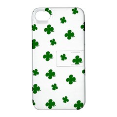 St  Patrick s Clover Pattern Apple Iphone 4/4s Hardshell Case With Stand by Valentinaart