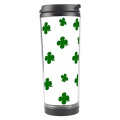 St  Patrick s Clover Pattern Travel Tumbler by Valentinaart
