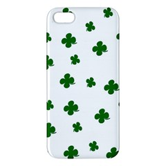 St  Patrick s Clover Pattern Iphone 5s/ Se Premium Hardshell Case by Valentinaart