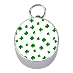St  Patrick s Clover Pattern Mini Silver Compasses by Valentinaart