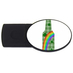 St  Patricks Day   Bottle Usb Flash Drive Oval (4 Gb) by Valentinaart