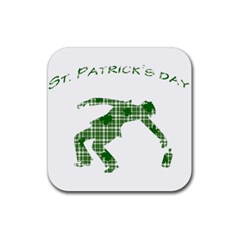 St  Patrick s Day Rubber Square Coaster (4 Pack)  by Valentinaart