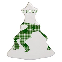 St  Patrick s Day Ornament (christmas Tree)  by Valentinaart