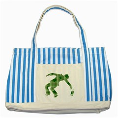 St  Patrick s Day Striped Blue Tote Bag by Valentinaart