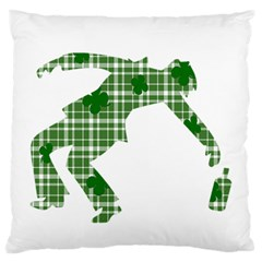 St  Patrick s Day Large Flano Cushion Case (two Sides) by Valentinaart
