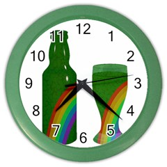 St  Patrick s Day Color Wall Clocks by Valentinaart