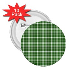 St  Patricks Day Plaid Pattern 2 25  Buttons (10 Pack)  by Valentinaart