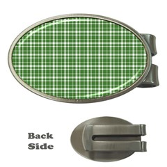 St  Patricks Day Plaid Pattern Money Clips (oval)  by Valentinaart