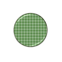 St  Patricks Day Plaid Pattern Hat Clip Ball Marker by Valentinaart