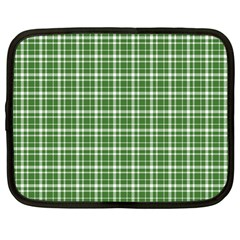 St  Patricks Day Plaid Pattern Netbook Case (large) by Valentinaart