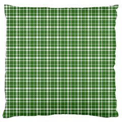 St  Patricks Day Plaid Pattern Large Cushion Case (one Side) by Valentinaart