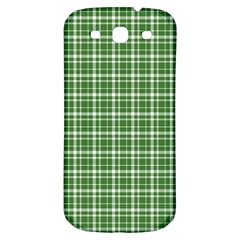 St  Patricks Day Plaid Pattern Samsung Galaxy S3 S Iii Classic Hardshell Back Case by Valentinaart