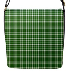 St  Patricks Day Plaid Pattern Flap Messenger Bag (s) by Valentinaart