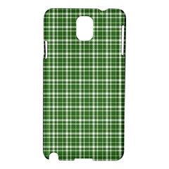 St  Patricks Day Plaid Pattern Samsung Galaxy Note 3 N9005 Hardshell Case by Valentinaart