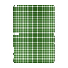 St  Patricks Day Plaid Pattern Galaxy Note 1 by Valentinaart