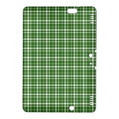 St  Patricks Day Plaid Pattern Kindle Fire Hdx 8 9  Hardshell Case by Valentinaart