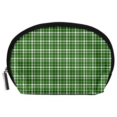 St  Patricks Day Plaid Pattern Accessory Pouches (large)  by Valentinaart