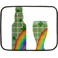 St  Patrick s Day Double Sided Fleece Blanket (mini)  by Valentinaart
