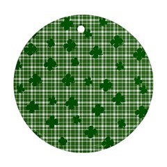 St  Patrick s Day Pattern Ornament (round) by Valentinaart
