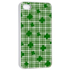 St  Patrick s Day Pattern Apple Iphone 4/4s Seamless Case (white) by Valentinaart