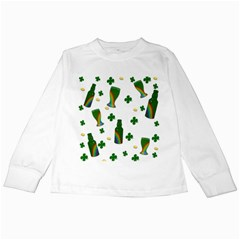 St  Patricks Day  Kids Long Sleeve T Shirts by Valentinaart