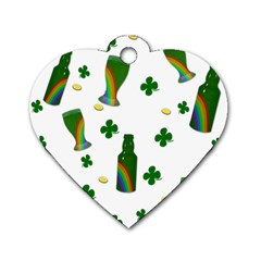 St  Patricks Day  Dog Tag Heart (two Sides) by Valentinaart