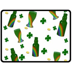St  Patricks Day  Fleece Blanket (large)  by Valentinaart