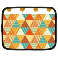 Golden Dots And Triangles Pattern Netbook Case (large)