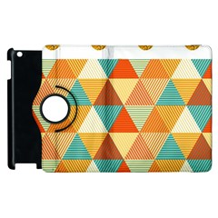 Golden Dots And Triangles Pattern Apple Ipad 3/4 Flip 360 Case by TastefulDesigns