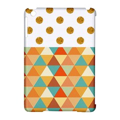 Golden Dots And Triangles Patern Apple Ipad Mini Hardshell Case (compatible With Smart Cover) by TastefulDesigns
