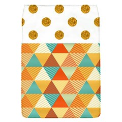 Golden Dots And Triangles Patern Flap Covers (s)  by TastefulDesigns