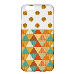 Golden Dots And Triangles Patern Apple Iphone 6 Plus/6s Plus Hardshell Case by TastefulDesigns