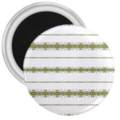 Ethnic Floral Stripes 3  Magnets by dflcprints