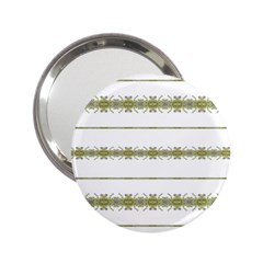 Ethnic Floral Stripes 2 25  Handbag Mirrors by dflcprints