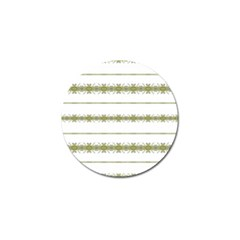 Ethnic Floral Stripes Golf Ball Marker (4 Pack) by dflcprints