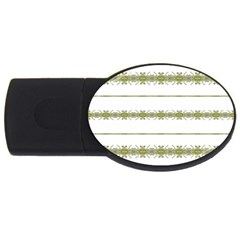 Ethnic Floral Stripes Usb Flash Drive Oval (2 Gb) by dflcprints