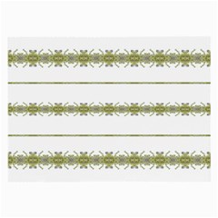 Ethnic Floral Stripes Large Glasses Cloth (2 Side) by dflcprints