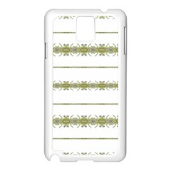 Ethnic Floral Stripes Samsung Galaxy Note 3 N9005 Case (white) by dflcprints