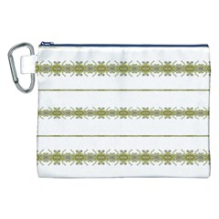 Ethnic Floral Stripes Canvas Cosmetic Bag (xxl) by dflcprints