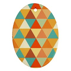 Triangles Pattern  Ornament (oval) by TastefulDesigns