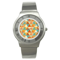 Triangles Pattern  Stainless Steel Watch by TastefulDesigns